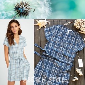 🌴🌼RVCA- LANDED BUTTON UP DRESS🌼🌴